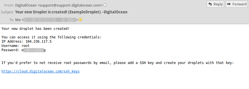 DigitalOcean Email